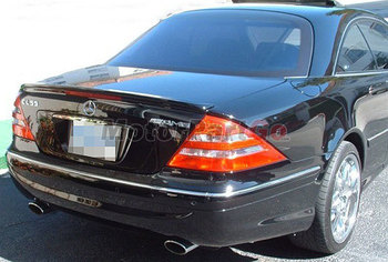 V Style  Carbon Fiber Trunk Boot Spoiler Wing Lip Fit For Benz W215  2012UP    M046 1