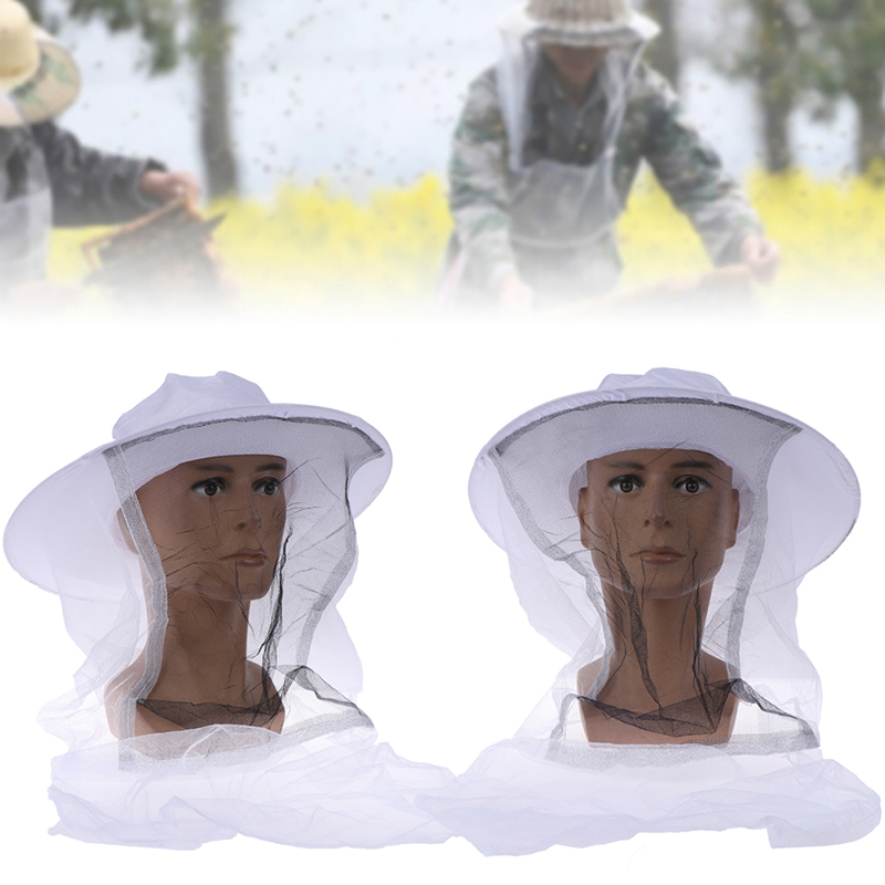 1x Beekeeping Fishing Cowboy Hat Mosquito Bee Insect Net Cap Face Head Protector