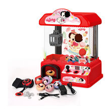 Ddung er tong jia Crane Machine Toy Small Household Mini Catch Crane Machine Game Console Folder Doll Candy Machine