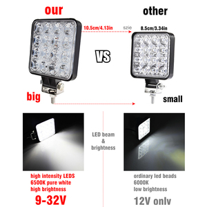 Image 3 - Okeen Gigger Size 4 Inch Led Light Bar 18W 48W Spot Flood 12V 24V Off Road auto 4WD Truck Tractor 4X4 Suv Led Verlichting