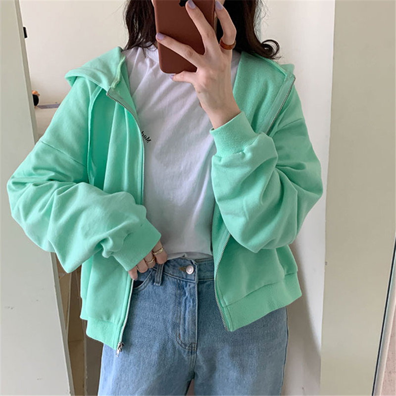 Alien Kitty Sports-uniform Hooded Leisure 2020 Hot Sweet High Quality Women Chic Soft Solid Loose Casual Female Sweatshirts