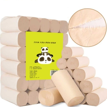 Bathroom Coreless Toilet Paper 30 Roll/Bag Paper Towel Bamboo Pulp Natural Roll Paper Household Pulp Toilet Paper home supplies