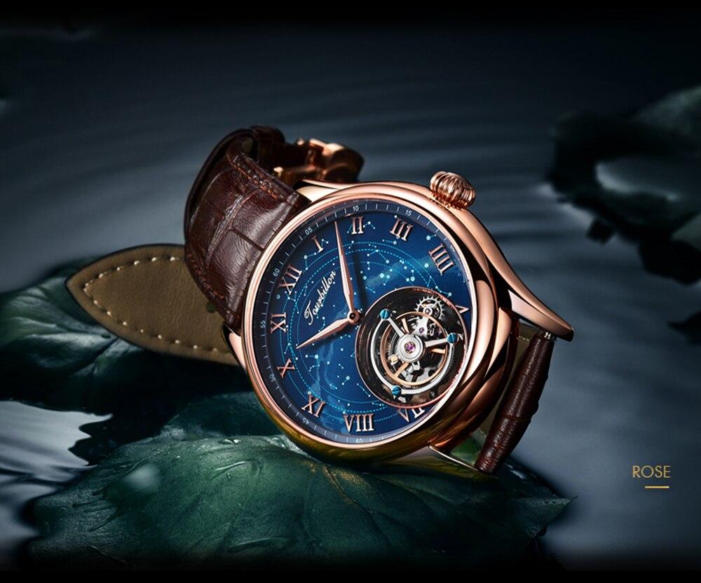 100% Tourbillon GUANQIN Men watches top brand luxury Tourbillon clock men Sapphire Skeleton mechanical watch Relogio Masculino 19