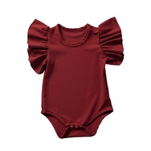 INS Summer Baby Romper Ruffled Short-Sleeve Cotton Baby Girl Clothes Jumpsuit Toddler Newborn Infant Overalls ropa bebe ruffled flower baby rompers summer newborn baby costumes kids jumpsuit toddler baby girl romper ropa bebe clothes polo outfits