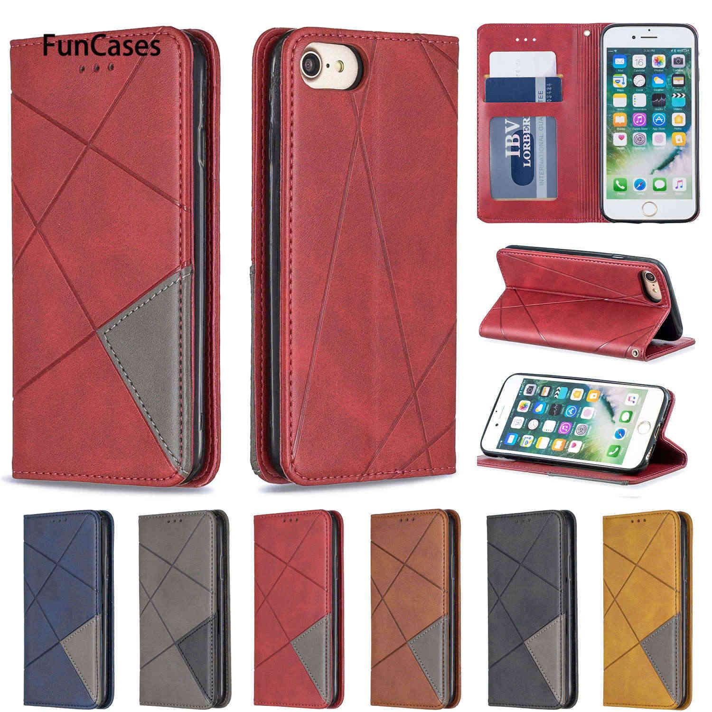 Business Cellphone Cases For capinha iPhone 7 Flip Case Flip Wallet Case Book sFor Apple iPhone ajax 8 4.7