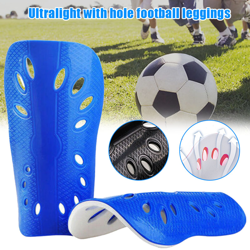 New 2pcs Men Lightweight with Hole Football Shield Basketball Shin Guards Protective Gear XD88