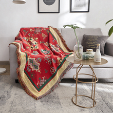 Bohemian Tassel Sofa Blanket Throw Home Decor Ethnic Wind Creative Couch Cover Air Conditioning Travel Blankets