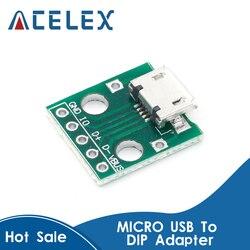 10 шт потребительских упаковок для микро USB для DIP адаптер 5pin гнездовой разъем зарядная Модульная плата Панель Женский 5-контактный разъем ...