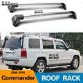 2 шт. для JEEP COMMANDER (XK  XH) 2006-2010 на крышу  для автомобиля  специальный алюминиевый сплав  замок для ремня  светодиодная стойка для стрельбы