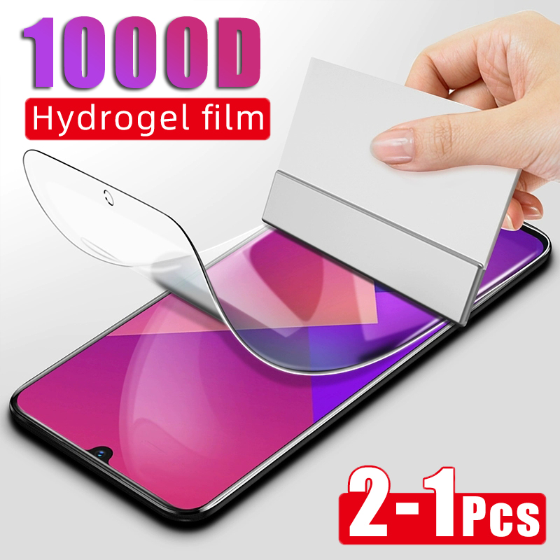 2-1Pcs 1000D Hydrogel Film For Xiaomi Redmi 5 Plus 5 6A 6 Pro Soft Film For Redmi Note 6 7 8 Pro 8T 7 Screen Protector Not Glass