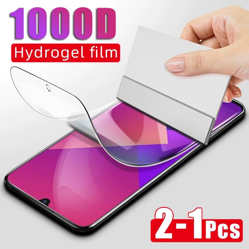 2-1Pcs 1000D Hydrogel Film For Xiaomi Redmi 5 Plus 5 6A 6 Pro Soft Film For Redmi Note 6 7 8 Pro 8T 7 Screen Protector Not Glass