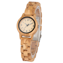 Natural Quartz Wooden Watch for Women Handmade Wood Strap Concise Small Dial Clock Luminous Pointers Wristwatch reloj mujer