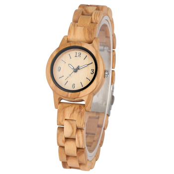цена Natural Quartz Wooden Watch for Women Handmade Wood Strap Concise Small Dial Clock Luminous Pointers Wristwatch reloj mujer онлайн в 2017 году