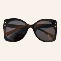 Vintage Sunglasses For Women Acetate Frame Brand Mirror Sunglasses with Original Packing Box