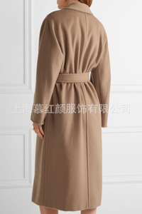 Image 3 - Double Breasted Elegante Longo Casaco De Lã Mistura Casaco de Lã Sólida Fino e Jaqueta Do Vintage Longo Das Mulheres Casacos de Inverno Outono