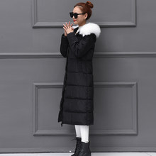 Thick Warm Down Cotton Female Jacket Women Winter Parka Mujer Fit Long Women's Park Coat Ladies Overcoat 9011(China)