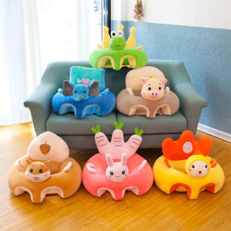 Baby Sofa Support Seat Baby Plush Chair Learning To Sit Soft Plush Toys Cartoon Seat Washable Toddler Nest Feeding Chair