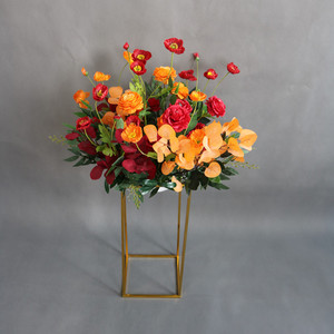 Image 5 - 4 ピース/セット錬鉄製のスタンドの結婚式は造花道路のリード用品花のアーチ結婚式のアーチ道路のリード t ステージの装飾