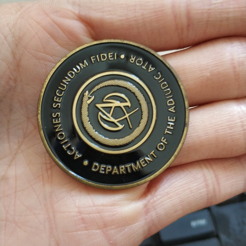 John Wick Metal Referee Coin Adult Cosplay Accessories Prop Black Coin Replica