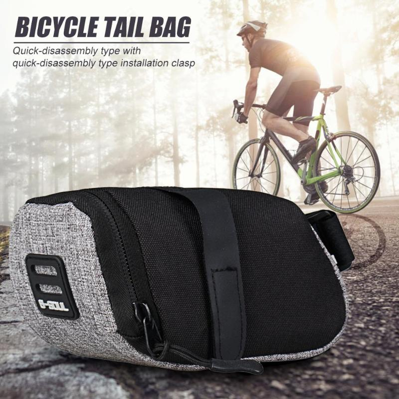 Reflective Bike Saddle Bag Cycling Pouch MTB Bicycle Tail Rear Seat Pannier