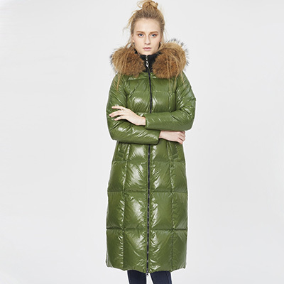 2020 Winter 5 Colors New 95% White Duck Down Natural Raccoon Fur Women's Thick Long Hooded Down Jacket Plus Szie LX899