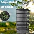 6 слоев висячая корзина с молнией Складная сухая полка трава Съемная сушильная сетка сушилка растительная Цветочная травяная сухая корзина