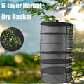 6 warstw wiszący kosz z zamkiem błyskawicznym składany wieszak Herb odpinany suszenie netto spinacze do prania roślina kwiat ziołowy suchy kosz