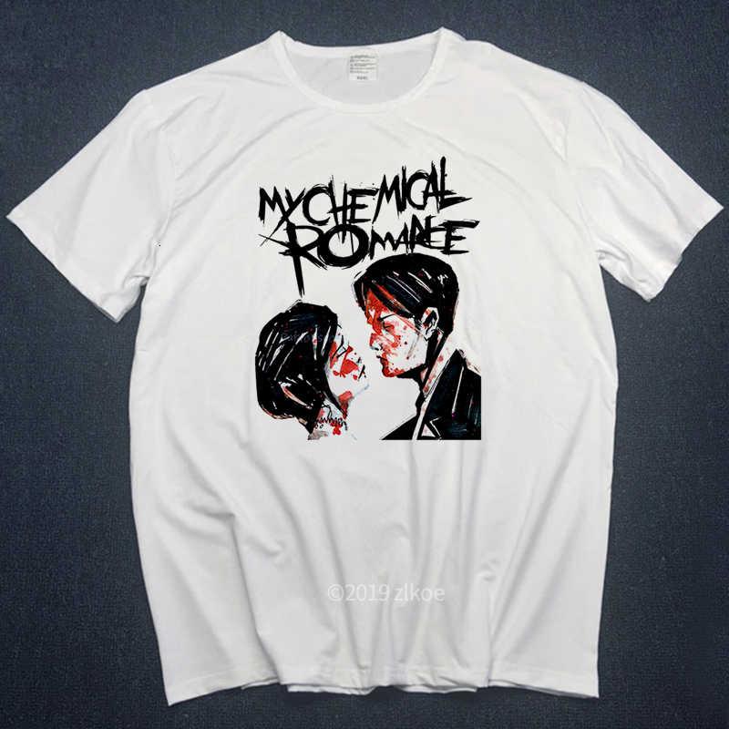 Punk Shirt My Chemical Romance T-shirts Mannen Tops 2018 Zomer Witte Tops Man Grappige T-shirts Hot Koop Hiphop Streetwear Plus size