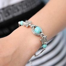 Natural Stones Turquoise Bracelet Classic Luxury Women Summer Unique Design Beaded Bracelet Charm Bracelet For Women Jewelry #1(China)