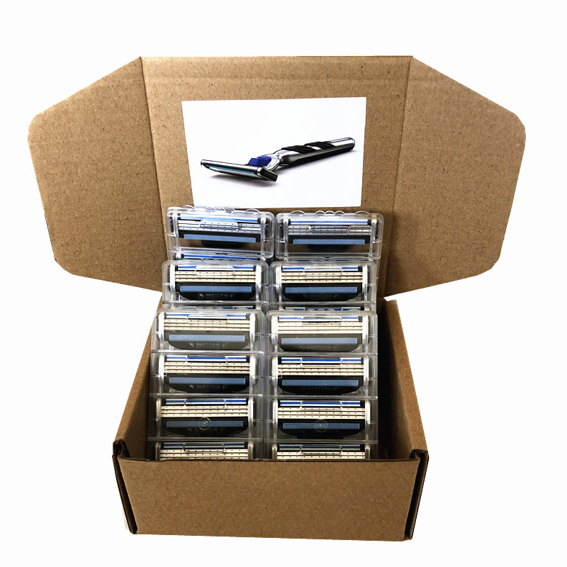 Custom Packaging 24pcs Men Razor Blades For Men 3 Layer Shaving Cassettes Shaving Blades For Gillette Mach 3 Replacement Blade