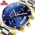 OLMECA  роскошные брендовые кварцевые часы с золотым хронографом  мужские часы из нержавеющей стали с датой  мужские наручные часы  мужские час...