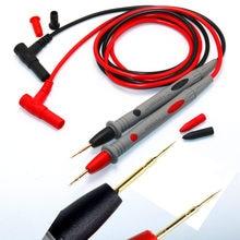 Multimedidor digital com agulha de ponta fina, medidor universal 1000V 10A 20A, caneta de sonda para teste de fios, testador multimedidor para cabos, 1 par