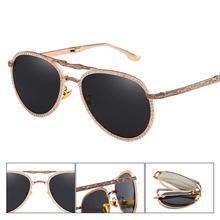 Солнцезащитные очки авиаторы Мужские Складные Классические Поляризационные
