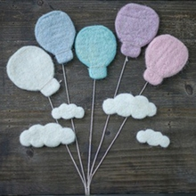 9 Pcs DIY Baby Wool Felt Dinosaur Stars Love Heart Clouds Balloon Decorations 53CE