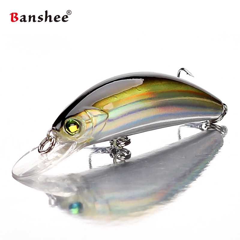 Banshee 54mm 4.7g Floating/Crank Wobbler For Fishing Pike Fishing Crankbait Bait Artificial/Hard Lure Black Minnow Fishing Lure