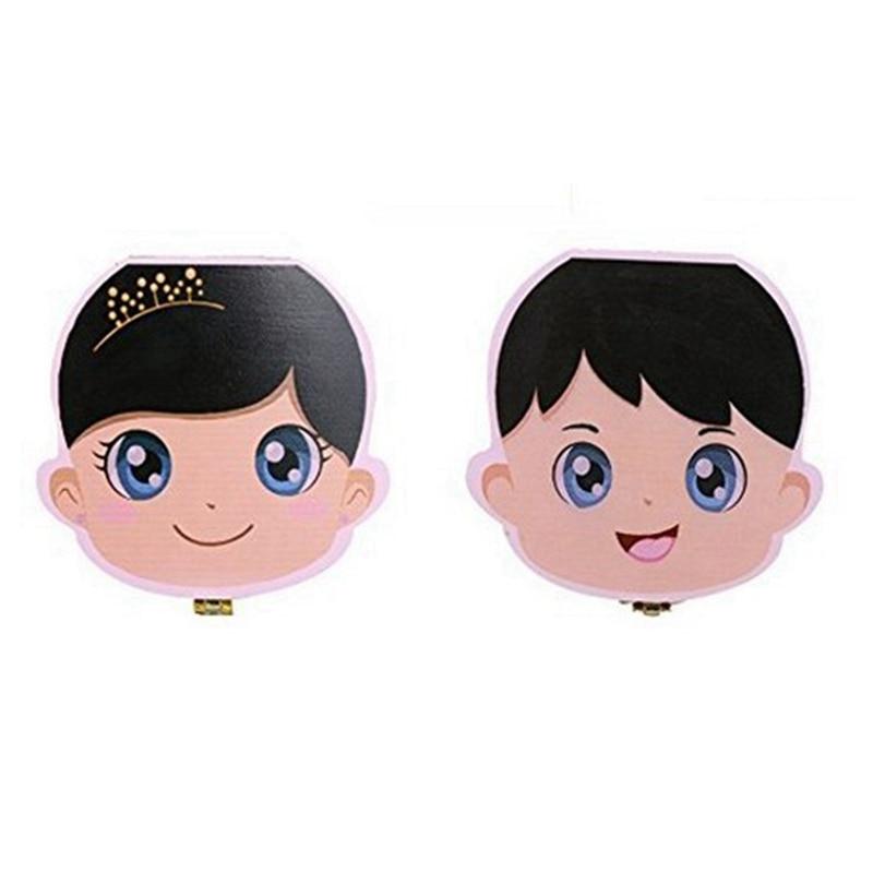 2 Pcs New Kids Tooth Box Organizer For Baby Save Milk Teeth Wood Storage Box , Boy & Girl