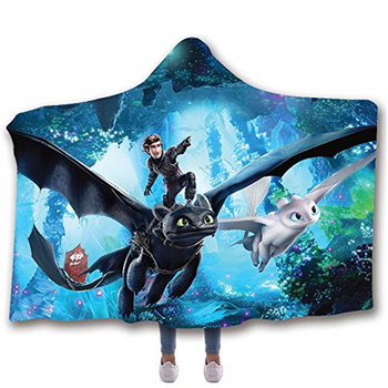 How to Train Your Dragon Hooded Blanket  3