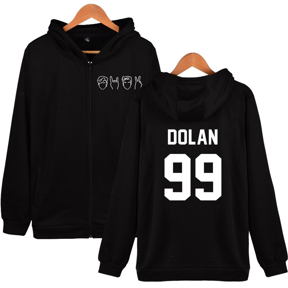 Dolan Twin Hoodies Autumn Fashion Kpop Style Fleece Zipper Printing Tracksuits Sweatshirt Cool And 4XL