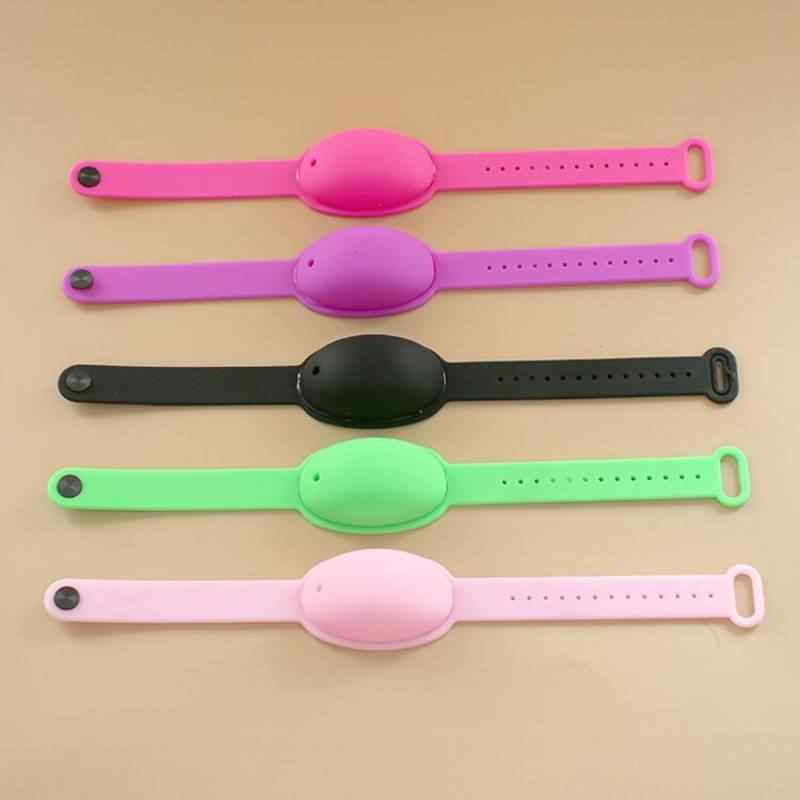 Silikon Gelang Tangan Dispenser Wearable Tangan Sanatizer Gelang Dispenser Dispenser Sabun Gelang Desinfectant