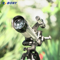 SVBONY SV25 60/420mm Monoculars Refractor Telescope+Tripod+Optical Finder Scope for Watch Travel Moon Bird for kids &students