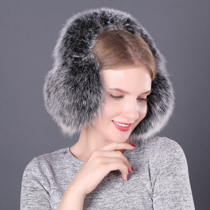 Fox Hair Earmuffs New Winter Women's Fur Earmuffs Earmuffle To Keep Warm And Protect Ears Can Be Used For Both Neck And Neck