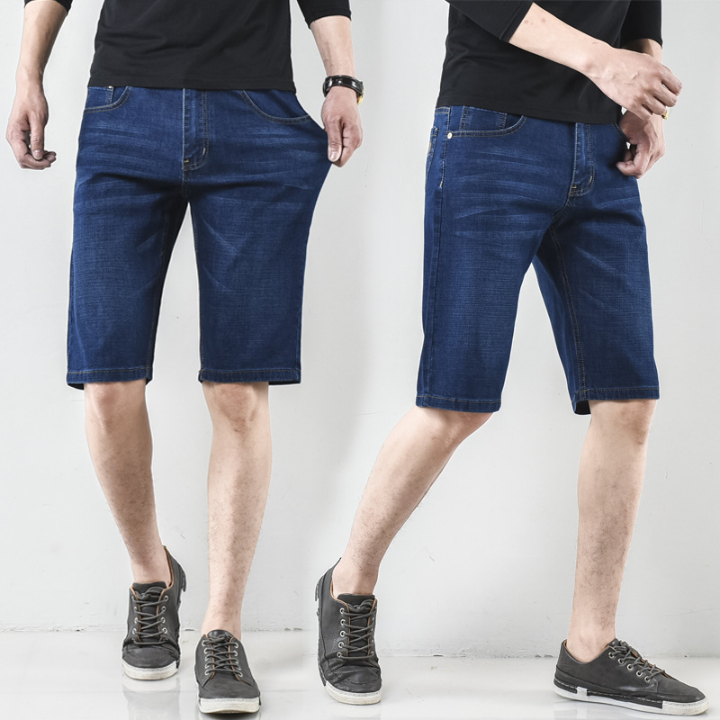 Parallel Fruit Business Summer New Style Jeans Men's Casual Straight-Cut Loose-Fit Thin Summer Hot Sales Middle-aged Stretch Pan
