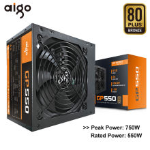 Aigo GP550 Desktop Power Supply 750W 80 Plus Bronze Tenang Power 12V ATX Aktif Power Supply Komputer Pendingin fan untuk Intel AMD PC(China)