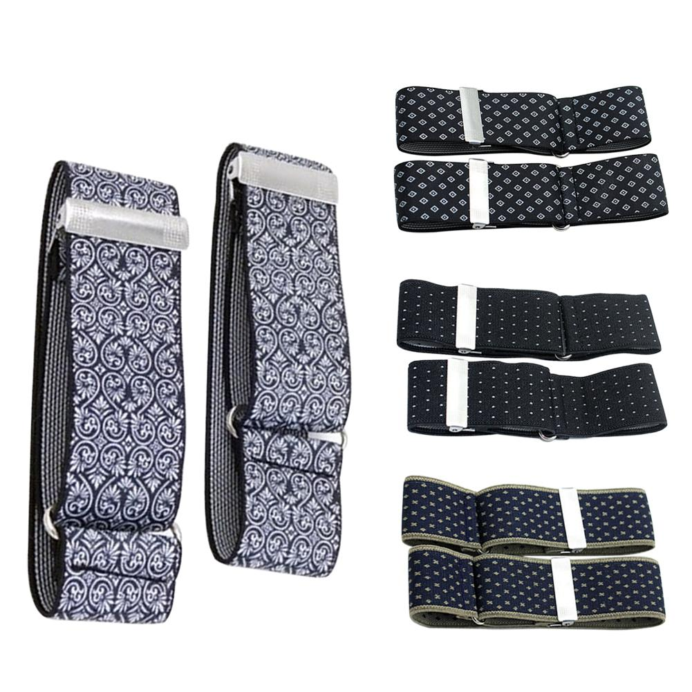 SANWOOD 1 Pair 3.5cm Elegant Shirt Anti-slip Elastic Armband Sleeve Garter Bartender Cuff Holder Elastic Garter Christmas Gifts