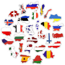 """50pcs National Flags Stickers Countries Map Travel Sticker to DIY Computer Laptop Skin Vinyl Sticker for MacBook Pro Air 11""""13"""""""
