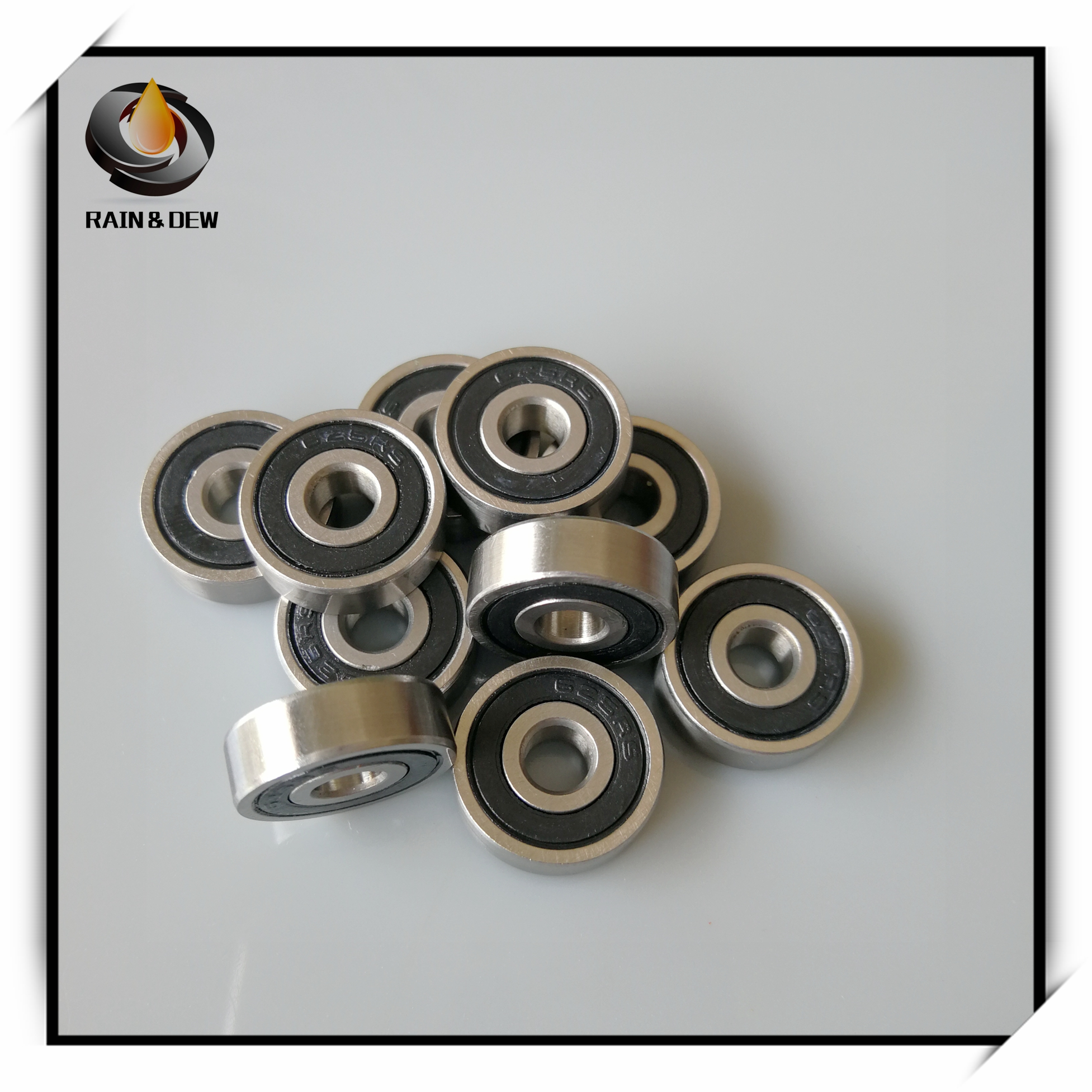 10pcs F605-2RS Flanged Metal Rubber Sealed Ball Bearing F605RS 5x14x5 mm