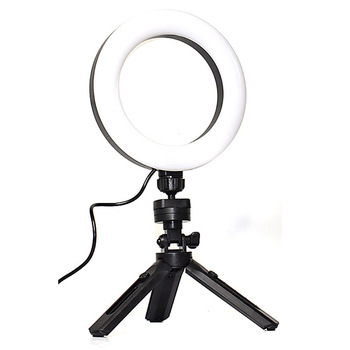 USB LED Ring Fill Light Dimmable Ring Light Adjustable Tripod Stand Multi-Functions Filling Light For Make-up Video Live