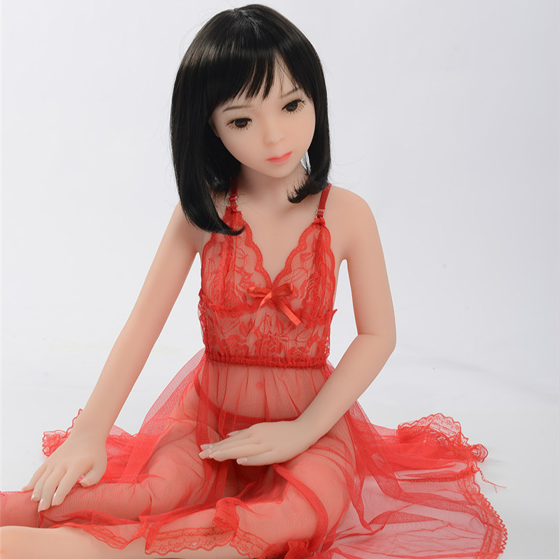 <font><b>100cm</b></font> <font><b>Sex</b></font> <font><b>Dolls</b></font> <font><b>Flat</b></font> Chest Silicone with Metal Skeleton Sexshop Japanese Adult Mini Lifelike Oral SexDolls Vagina Pussy for Man image