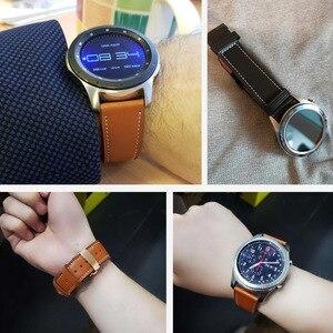 Image 5 - Italie bracelet en cuir pour samsung galaxy montre 46mm bracelet engrenage s3 bracelet 22mm bracelet Huawei montre gt bracelet papillon boucle 46