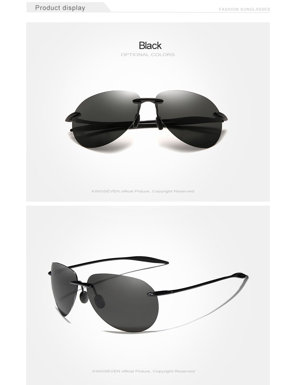 Hb39b28bb689841c3b68370763c9eed03Z - KINGSEVEN Ultralight TR90 Rimless Sunglasses Men High Quality Frameless Sun Glasses For Women Oculos Feminino